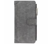 Luxuriöse Portemonnaie-Hülle Grau Samsung Galaxy J6 Plus