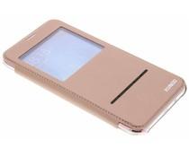Crystal Slim Book Case mit Fenster für das Samsung Galaxy J7