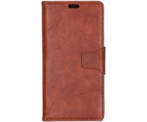 Split Leather Booktype Braun Sony Xperia XZ3