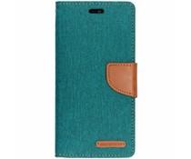 Mercury Goospery Canvas Diary Case Grün für das Huawei P20 Lite