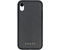 Guess iriDescent Leather Hardcase Schwarz für das iPhone Xr