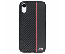 BMW M Line Carbon Hard Case Schwarz / Rot iPhone Xr