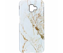 White Marble Passion Hard Case Samsung Galaxy J6 Plus