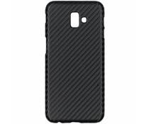 Carbon Look Hardcase-Hülle Schwarz Samsung Galaxy J6 Plus