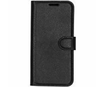 Litchi Buchtyp-Hülle Schwarz für das Nokia 7.1