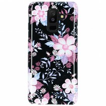 Black Flowers Passion Hard Case Galaxy A6 Plus (2018)