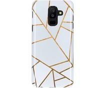 White Graphic Passion Hard Case Galaxy A6 Plus (2018)