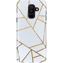 White Graphic Passion Hard Case Galaxy A6 Plus (2018)