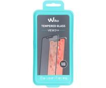 Wiko Tempered Glas Displayschutzfolie Schwarz für das View 2 Plus