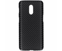 Carbon Look Hardcase-Hülle Schwarz für das OnePlus 6T
