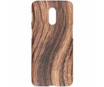 Holz-Design Hardcase-Hülle Dunkelbraun für das OnePlus 6T