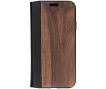 Holz-Leder Booktype Hülle Braun für das iPhone Xr