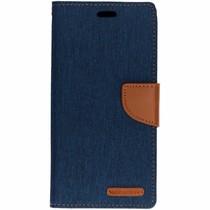 Mercury Goospery Canvas Diary Case Blau für das Huawei Mate 20 Lite