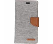 Mercury Goospery Canvas Diary Case Grau für das iPhone Xr