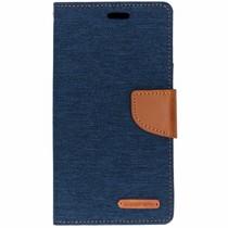 Mercury Goospery Canvas Diary Case Blau für das iPhone Xr