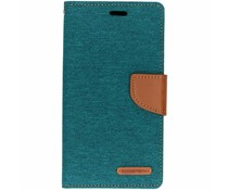 Mercury Goospery Canvas Diary Case Grün für das iPhone Xr