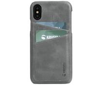 Krusell Sunne 2 Card Cover Grau für das iPhone Xs Max