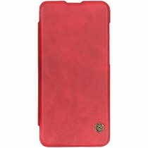 Nillkin Qin Leather Slim Booktype Hülle Rot für OnePlus 6T