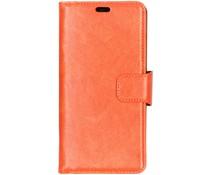 Split Leather Booktype Oranje für Samsung Galaxy A9 (2018)