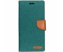 Mercury Goospery Canvas Diary Case Grün für das Samsung Galaxy J6 Plus