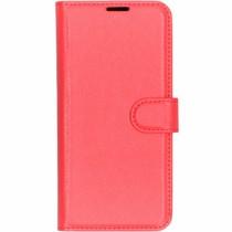Litchi Booktype Hülle Rot für das LG G7 Fit