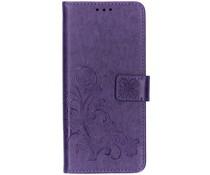 Kleeblumen Booktype Hülle Violett Samsung Galaxy S10 Plus