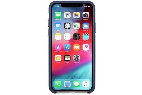 Apple Silikoncase Dunkelblau für das iPhone Xs Max
