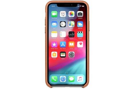 iPhone Xs Max hülle - Apple Leder-Case Braun für
