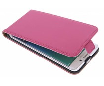 Selencia Luxus Flipcase Fuchsia Samsung Galaxy S6 Edge Plus
