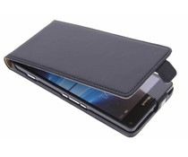 Selencia Luxus Flipcase Schwarz für Microsoft Lumia 950 XL