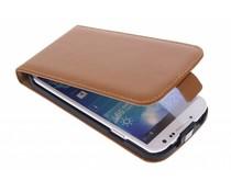 Selencia Luxus Flipcase Braun für das Samsung Galaxy S4