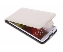 Selencia Luxus Flipcase Weiß für das LG G2