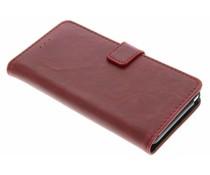 Luxus Leder Booktype Hülle Rot für das Wiko Lenny 2