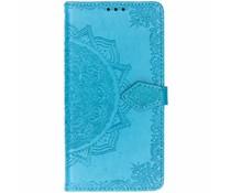 Mandala Booktype-Hülle Blau für das Nokia 8.1