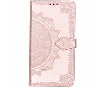 Mandala Booktype-Hülle Rosa für das Nokia 8.1