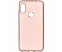 Carbon-Hülle Roségold für das Xiaomi Redmi Note 6 Pro