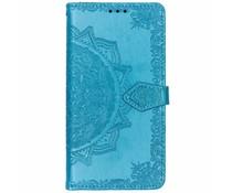 Mandala Booktype-Hülle Blau für das Nokia 3.1 Plus