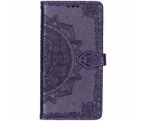 Mandala Booktype-Hülle Violett für das Nokia 3.1 Plus