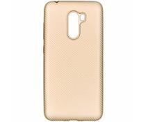 Carbon-Hülle Gold für das Xiaomi Pocophone F1