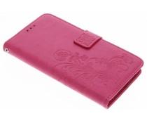 Kleeblumen Booktype Hülle Rosa für OnePlus 5