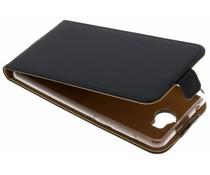 Selencia Schwarzer Luxus TPU Flipcase Huawei Y6 (2017)