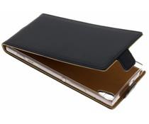 Selencia Schwarzer Luxus TPU Flipcase Sony Xperia XA1