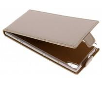 Selencia Goldfarbener Luxus TPU Flipcase Sony Xperia XA1