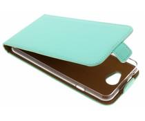 Selencia Mintgrüner Luxus TPU Flipcase General Mobile GM6