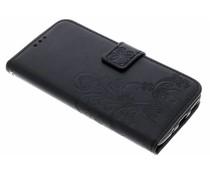 Kleeblumen Booktype Hülle Schwarz für Motorola Moto G5S Plus