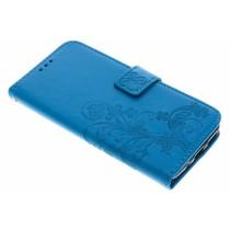 Kleeblumen Booktype Hülle Türkis für Motorola Moto G5S Plus