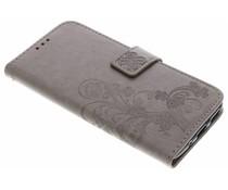 Kleeblumen Booktype Hülle Grau für Motorola Moto G5S Plus