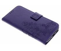 Kleeblumen Booktype Hülle Lila für Motorola Moto G5S Plus