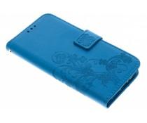Kleeblumen Booktype Hülle Türkis für Motorola Moto G5S