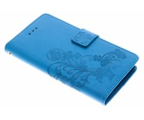 Kleeblumen Booktype Hülle Türkis für Sony Xperia XA2